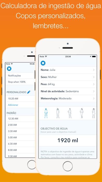 Screenshot for WaterMinder in Portugal App Store