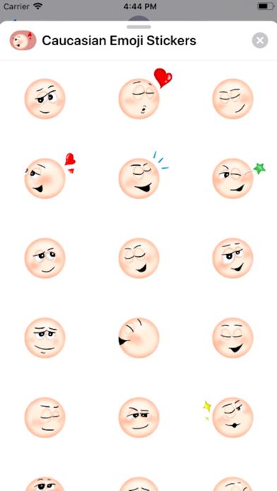 Screenshot of Caucasian Emoji Stickers App