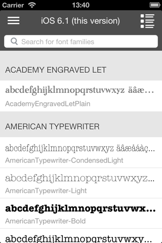 Font Box - náhled