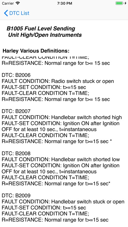 Harley DTC screenshot-2