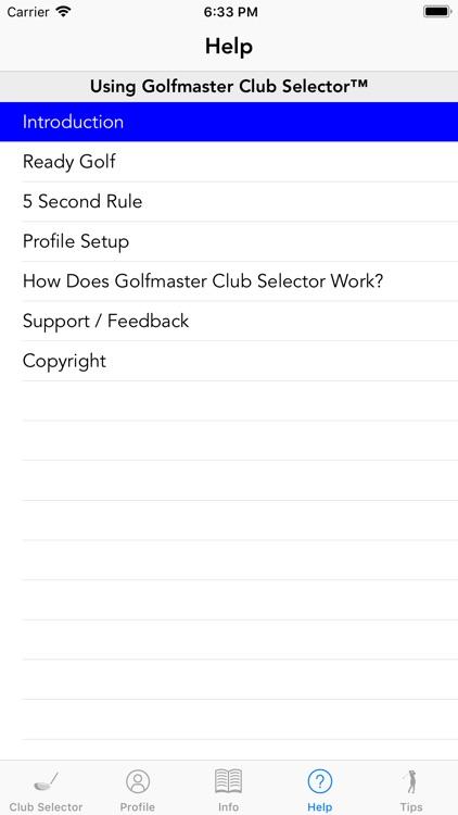 Golfmaster Club Selector screenshot-4