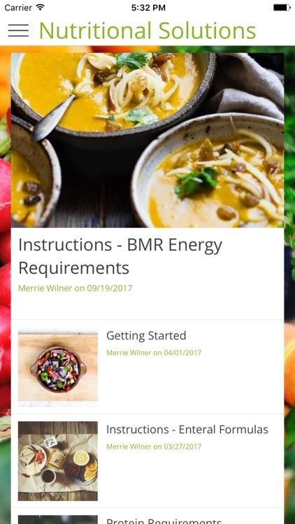 Nutritional Solutions screenshot-3