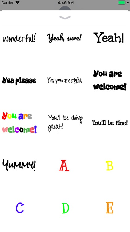 Silly Fonts Stickers