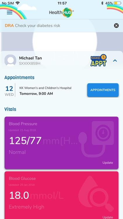 HealthHub SG screenshot-0