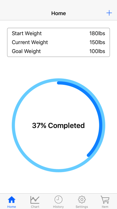 Body Weight Loss Tracker With Record Chart And Log screenshot 1