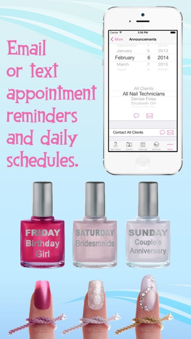 eNails - Nail salon appointment schedule calender screenshot four