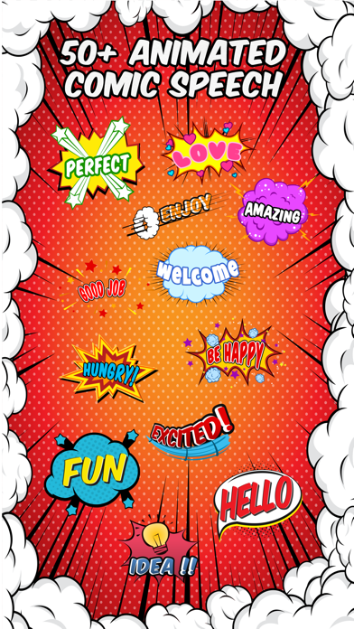 Animated Comic Speech Bubbles Pack Collection screenshot 1