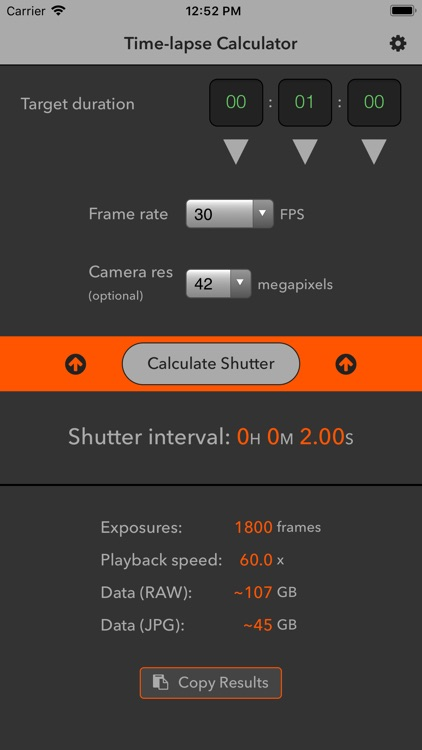 Time-lapse Calculator