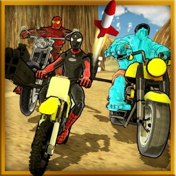 Super Hero Bike Racing