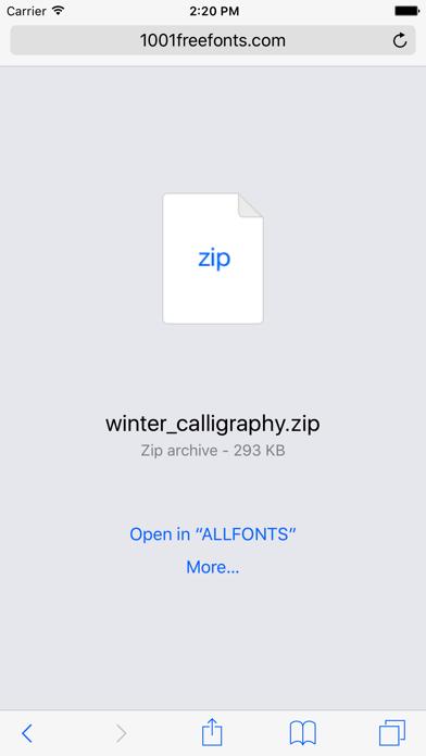 ALLFONTS - Install Any & All New Custom Fonts screenshot two