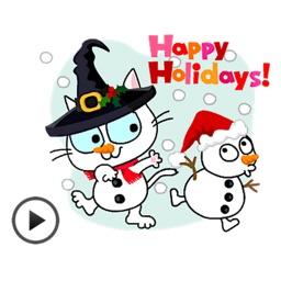 Happy New Year Animated Cat