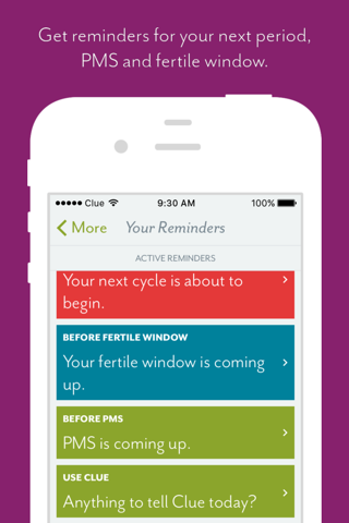 Clue - Health & Period Tracker screenshot 3
