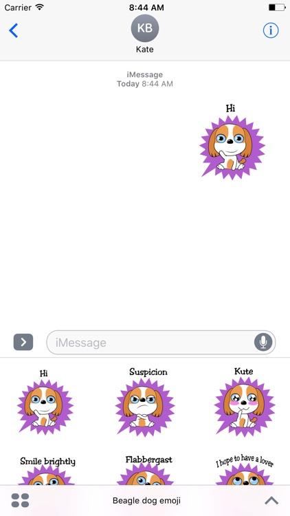 Beagle dog emoji & stickers