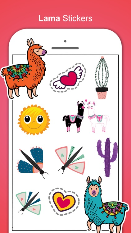 Llama Love Stickers screenshot-1