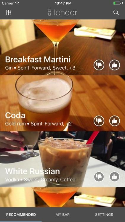 Tender Cocktails