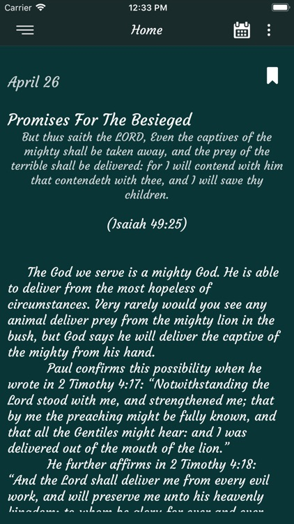 Daily Deliverance