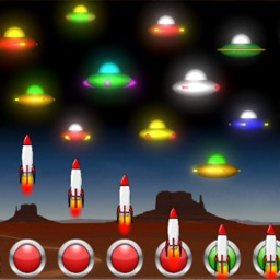 Neon UFO Invaders Pro