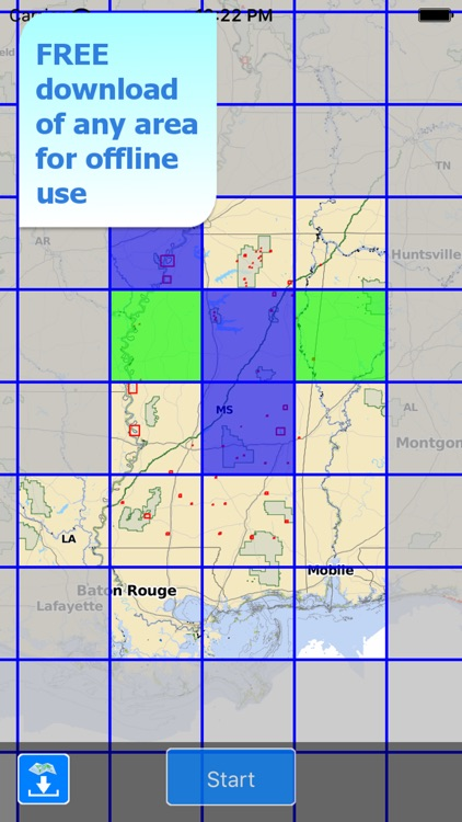 Aqua Map Mississippi Lakes HD screenshot-4