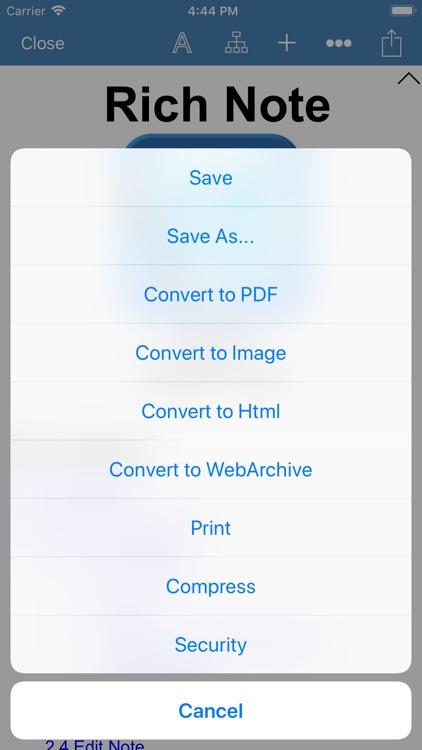 Rich Note & PDF Maker screenshot-8