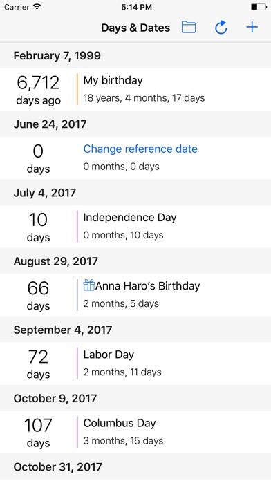 Days & Dates Screenshot 1