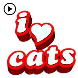 Animated Cat Pun Sticker