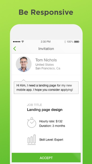 Screenshot 2 for Upwork's iPhone app'
