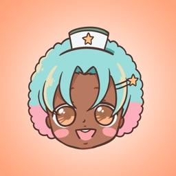 Nurse Seiza Anime Stickers