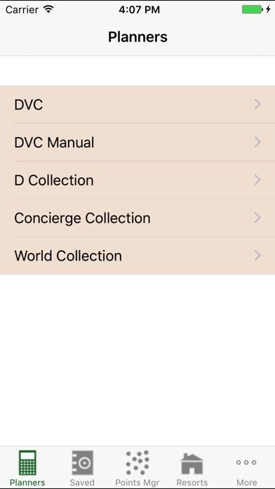 DVC Planner Screenshot