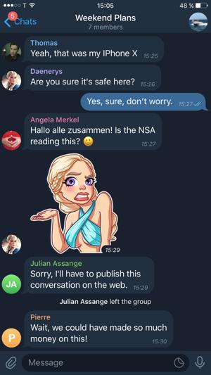 تلگرام x اندروید