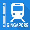 Singapore Rail Map - Subway, MRT & Sentosa