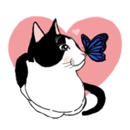 Sweet and Cute Cat Sticker