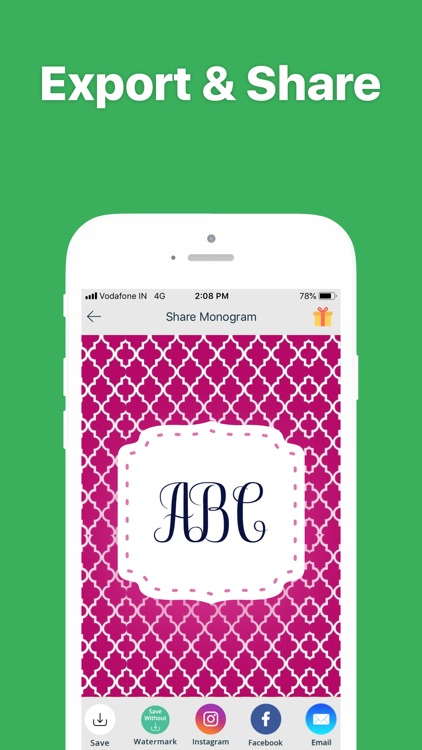 Monogram It - Wallpaper Maker screenshot-3