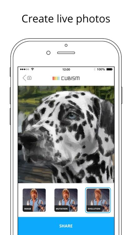 Cubism Art- create polygon art screenshot-4