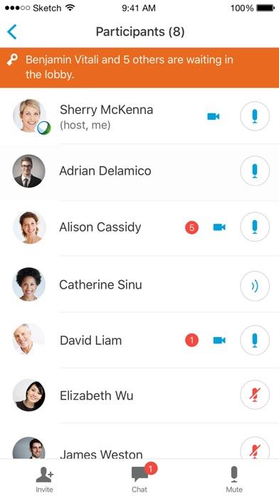 Cisco Webex Meetings screenshot three