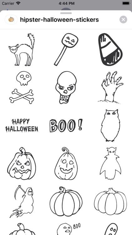 Hipster Halloween Stickers screenshot-4