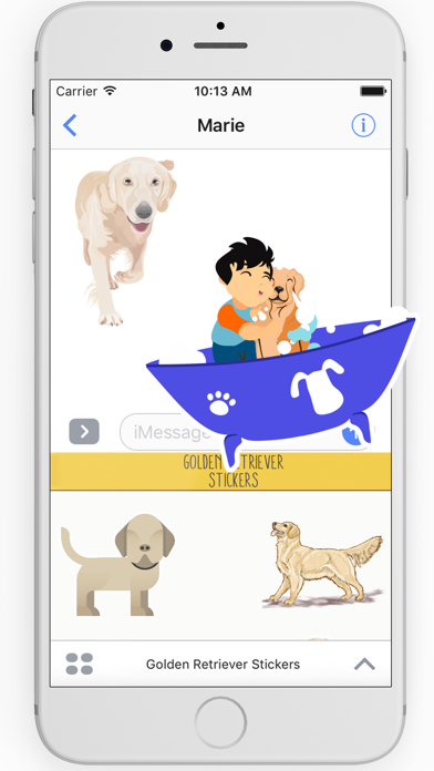 Golden Retriever Stickers screenshot two