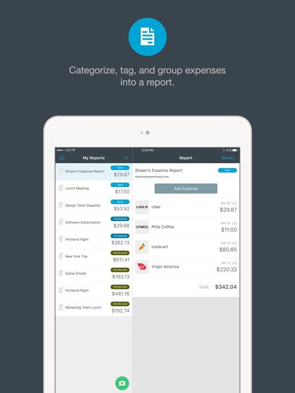 Expensify - Expense Reports & Receipt Tracking Screenshot