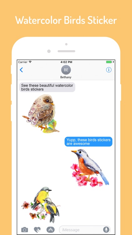 Watercolor Lovely Birds Sticke