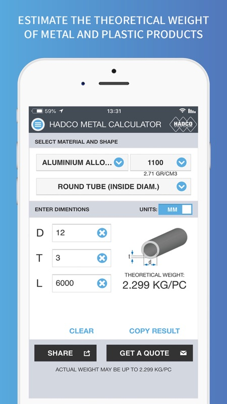 Hadco Metal Weight Calculator - Online Game Hack and Cheat