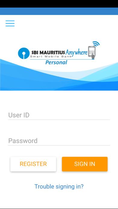 SBI Mauritius Anywhere screenshot one