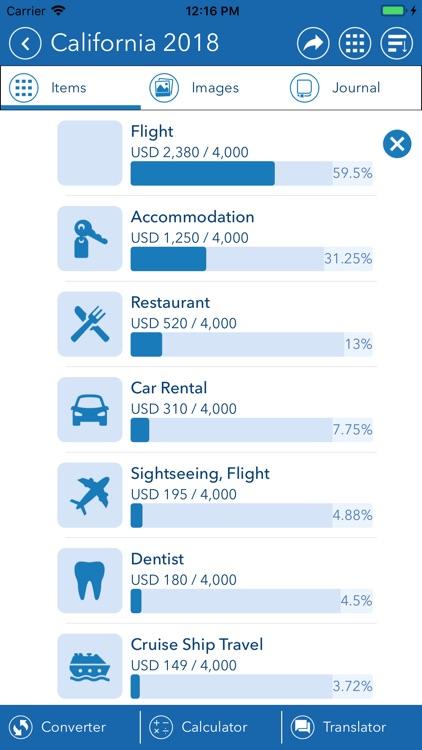 Travel Mate - Travel Expenses screenshot-3