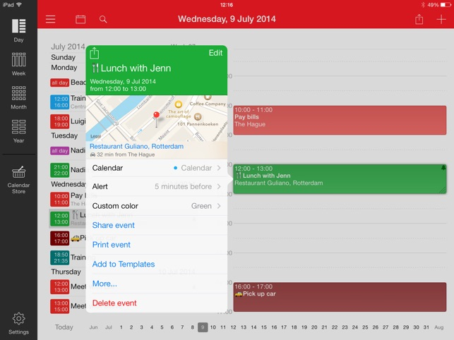 Week Calendar for iPad Screenshot