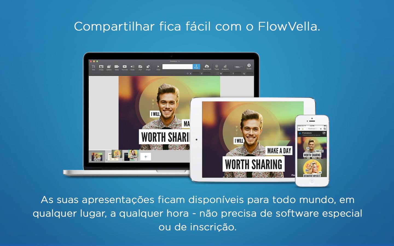 Screenshot do app FlowVella App Apresentações