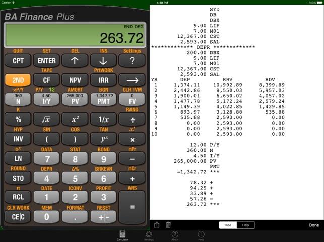Virtual ba ii plus calculator