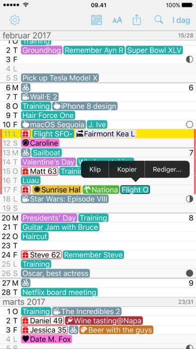 Screenshot for Month Calendar 2 in Denmark App Store
