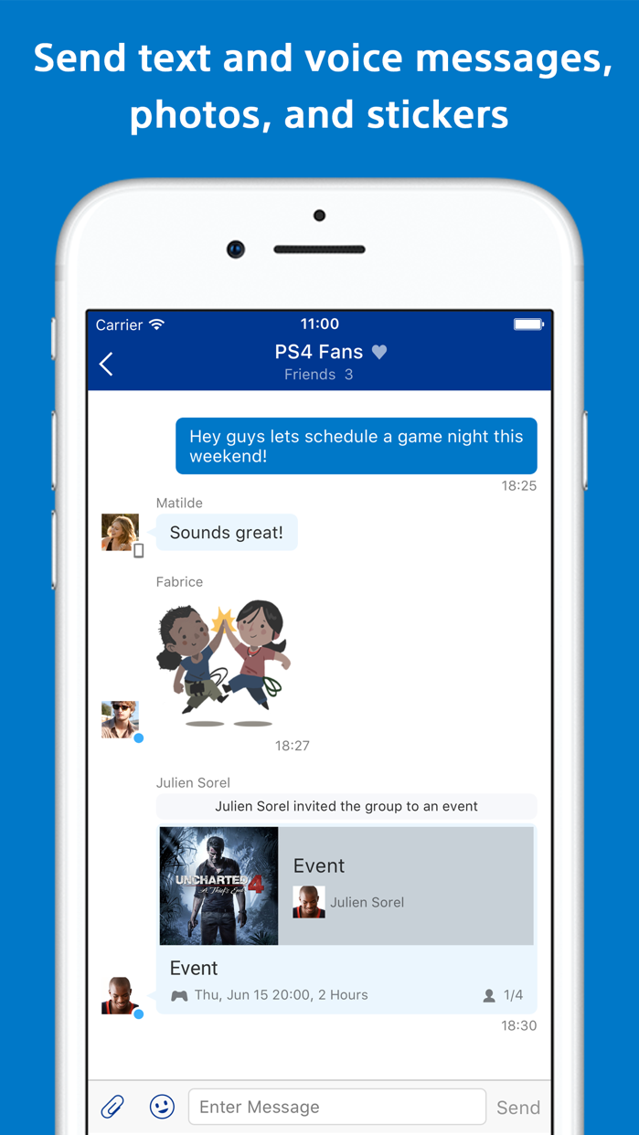 PlayStation Messages Screenshot