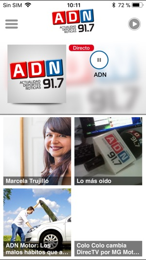 ‎ADN Radio para iPhone Screenshot