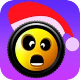 Xmas Emoji - Santa Sticker
