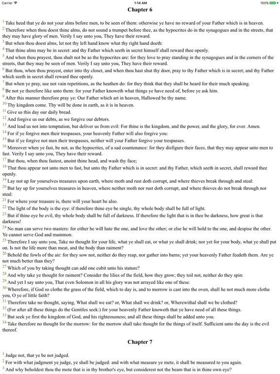 Screenshots for Holy Bible (Classic KJV)