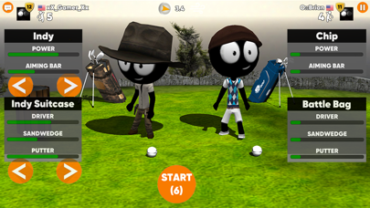 Screenshot from Stickman Cross Golf Battle